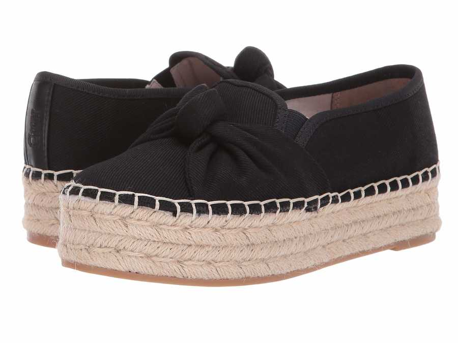 Circus By Sam Edelman Women Black Textured Woven Canvas Columbia Loafers