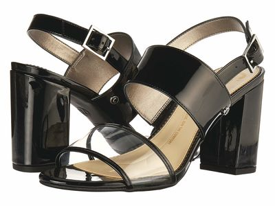 Circus By Sam Edelman - Circus By Sam Edelman Women Black/Clear Prm Lux Patent/Pvc Olivia Heeled Sandals