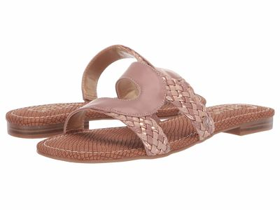 Circus By Sam Edelman - Circus By Sam Edelman Women Cameo Pink Rustic Waxed/Waxy/New Metal Grain Betty Flat Sandals