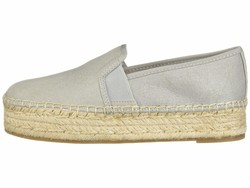 Circus By Sam Edelman Women Fog Grey New Shimmer Suede Christina Loafers - Thumbnail