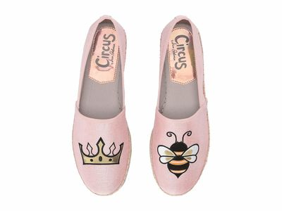 Circus By Sam Edelman Women Heirloom Rose (Queen Bee) Two-Tone Heavy Canvas Leni 6 Loafers