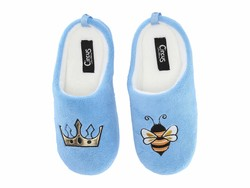 Circus By Sam Edelman Women Light Blue (Queen Bee) Fuzzy Fabric Jilly-6 Slippers - Thumbnail