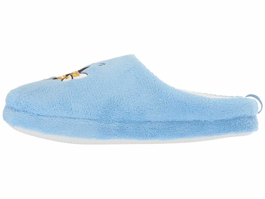 Circus By Sam Edelman Women Light Blue (Queen Bee) Fuzzy Fabric Jilly-6 Slippers