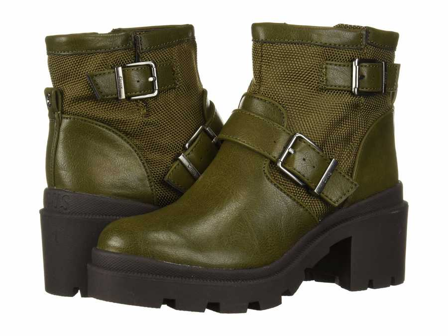 Circus By Sam Edelman Women Moss Green Sinead Motorcycle Boots