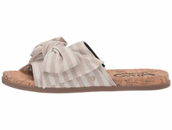 Circus By Sam Edelman Women Natural Flecked Metallic Stripe Fabric Nicola Flat Sandals - Thumbnail