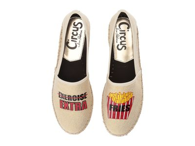 Circus By Sam Edelman - Circus By Sam Edelman Women Woven Striped Metallic (Exercise/ More Fries) Fabric Leni-27 Loafers