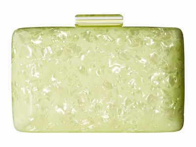 Circus By Sam Edelman Yellow Marble Acrylic Case Clutch Bag