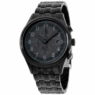Citizen - Citizen Chandler Black Dial Stainless Steel Men's Watch CA0625-55E