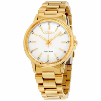 Citizen - Citizen Chandler Mother of Pearl Dial Stainless Steel Ladies Watch FE7032-51D