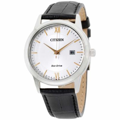 Citizen - Citizen Corso Silver Dial Leather Strap Men's Watch AW1236-03A