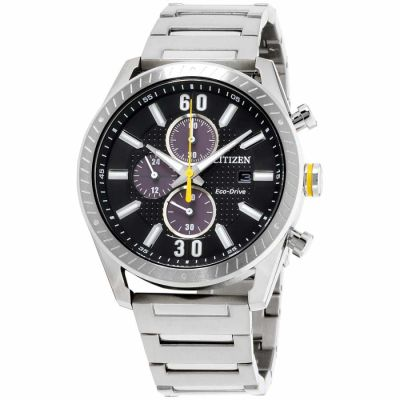 Citizen - Citizen Cto Black Dial Stainless Steel Men'S Watch Ca0660-54E