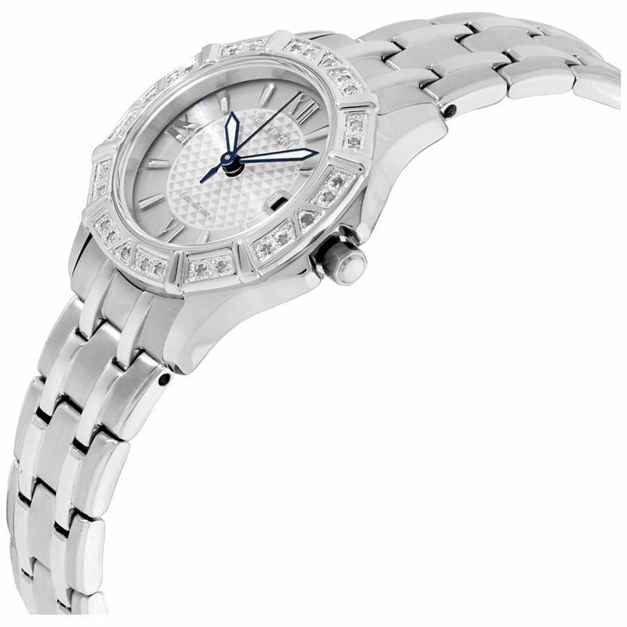 Citizen Diamond Silver Dial Stainless Steel Ladies Watch EW2360-51A