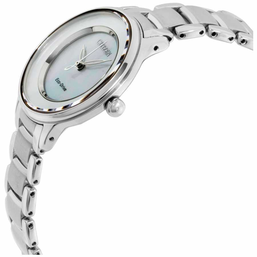 Citizen L Circle of Time MOP Dial Stainless Steel Ladies Watch EM0380-81D