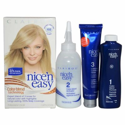 Clairol - Clairol Nice n Easy Permanent Color - 9A 102 Natural Light Ash Blonde 1 Application
