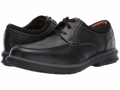 Clarks - Clarks Men Black Leather Rendell Walk Oxfords