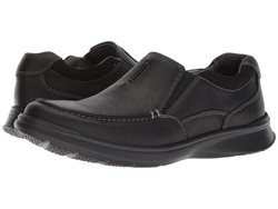 Clarks Men Black Oily Leather Cotrell Free Loafers - Thumbnail