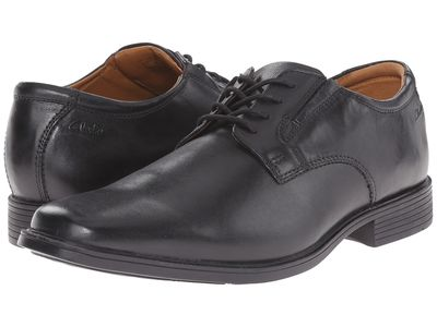 Clarks - Clarks Men Black Tilden Plain Oxfords