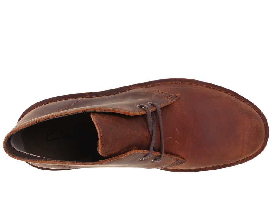 Clarks Men Brown Leather Bushacre 2 Chukka Boots