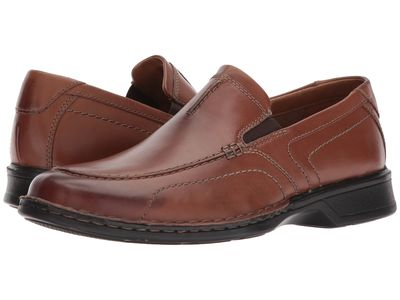 Clarks - Clarks Men Brown Leather Northam Race Loafers