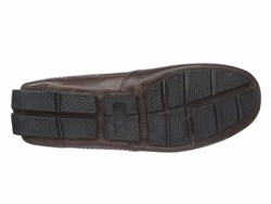 Clarks Men Dark Brown Leather Ashmont Race Loafers - Thumbnail