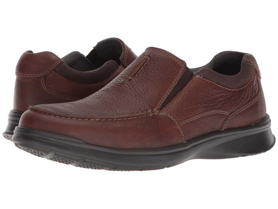 Clarks Men Tobacco Leather Cotrell Free Loafers