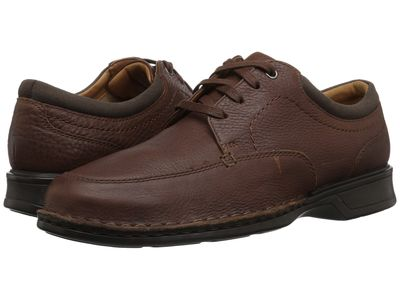Clarks Men Tobacco Leather Northam Pace Oxfords