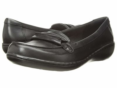 Clarks - Clarks Women Black Leather Ashland Lily Loafers