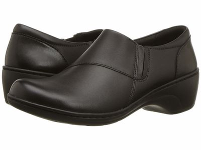 Clarks - Clarks Women Black Leather Channing Fiona Loafers