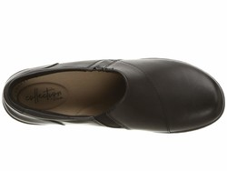 Clarks Women Black Leather Channing Fiona Loafers - Thumbnail