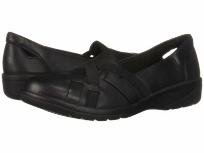 Clarks - Clarks Women Black Leather Cheyn Creek Loafers