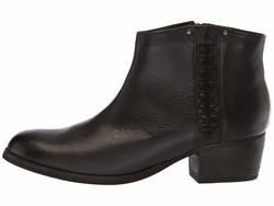Clarks Women Black Leather Maypearl Fawn Ankle Bootsbooties - Thumbnail