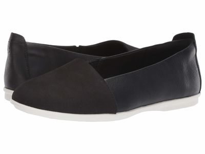 Clarks - Clarks Women Black Nubuck/Leather Combination Un Coral Step Flats