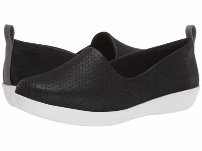 Clarks - Clarks Women Black Synthetic Nubuck Ayla Blair Flats