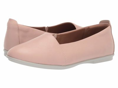 Clarks Women Blush Pink Leather Un Coral Step Flats