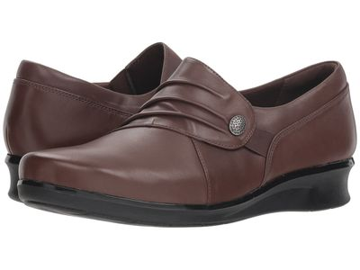 Clarks - Clarks Women Brown Leather Hope Roxanne Loafers