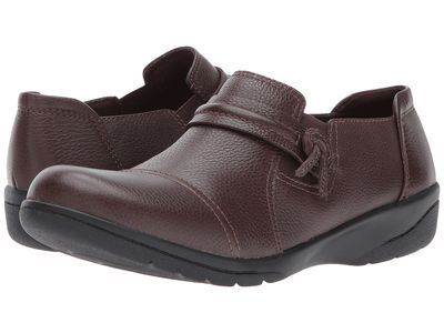 Clarks - Clarks Women Dark Brown Tumbled Leather Cheyn Madi Loafers