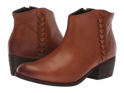 Clarks - Clarks Women Dark Tan Leather Maypearl Fawn Ankle Bootsbooties