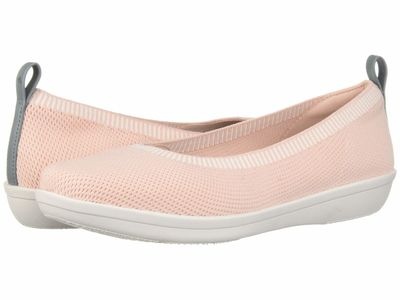 Clarks - Clarks Women Light Pink Knit Ayla Paige Flats