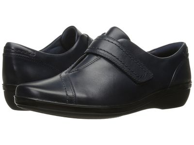 Clarks - Clarks Women Navy Leather Everlay Dixey Loafers