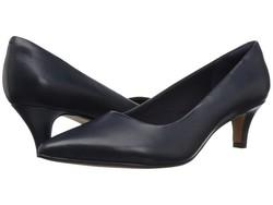 Clarks Women Navy Leather Linvale Jerica Pumps - Thumbnail