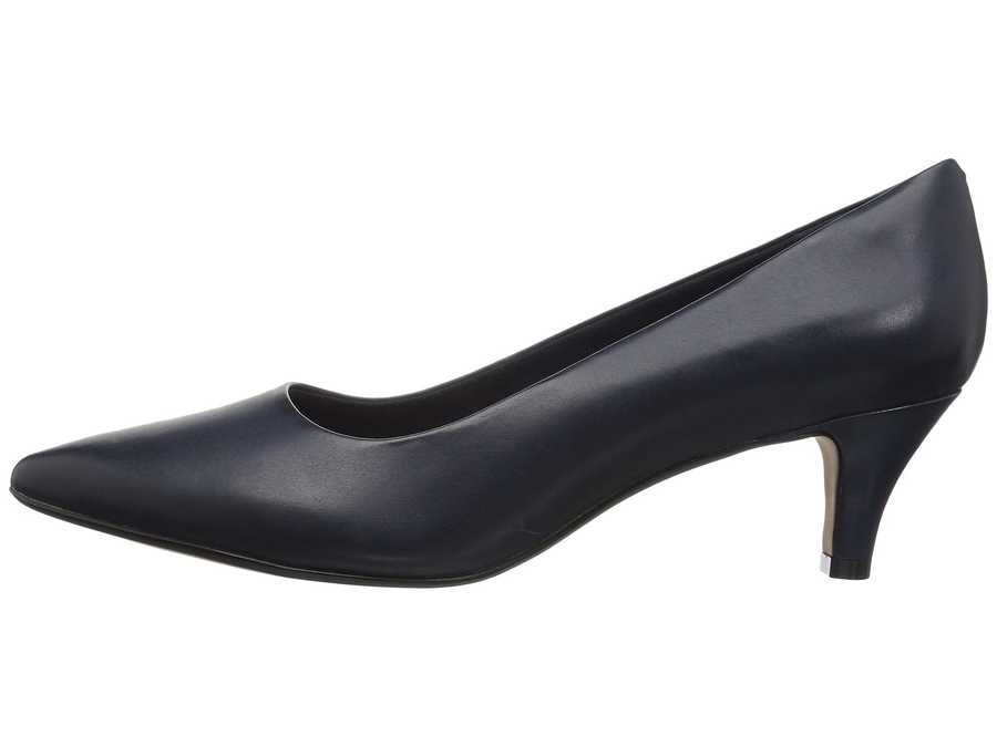 Clarks Women Navy Leather Linvale Jerica Pumps