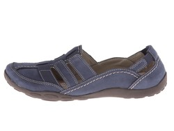 Clarks Women Navy Nubuck Haley Stork Loafers - Thumbnail