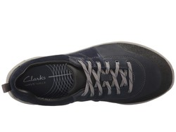 Clarks Women Navy Nubuck Wave Andes Lifestyle Sneakers - Thumbnail