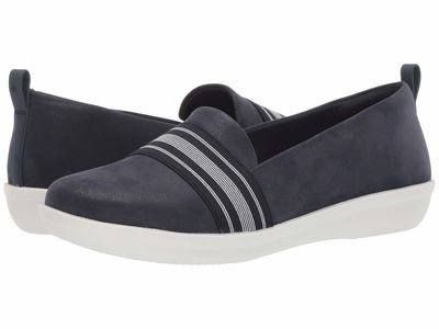 Clarks - Clarks Women Navy Synthetic Nubuck Ayla Sloane Lifestyle Sneakers