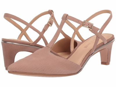 Clarks - Clarks Women Nude İnterest Nubuck Ellis Lola Pumps