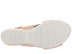 Clarks Women Nude Leather Cammy Pearl Heeled Sandals - Thumbnail