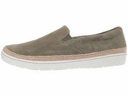 Clarks Women Olive Nubuck Marie Pearl Lifestyle Sneakers - Thumbnail