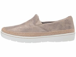 Clarks Women Pewter Suede Marie Pearl Lifestyle Sneakers - Thumbnail