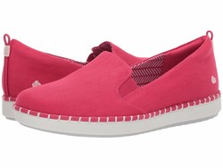 Clarks Women Rose Canvas Step Glow Slip Lifestyle Sneakers - Thumbnail