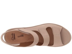Clarks Women Sand Nubuck Reedly Juno Heeled Sandals - Thumbnail